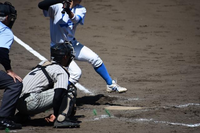 野球のキャッチャーの画像
